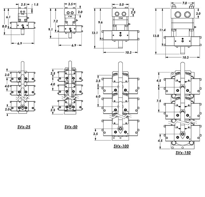 vertical mount SVX valves